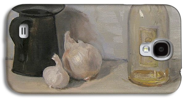 Onion And Garlic,tin Can, And Painting Medium Bottle Galaxy S4 Case