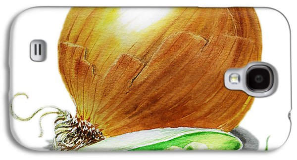 Vegetables Galaxy S4 Case - Onion And Peas by Irina Sztukowski