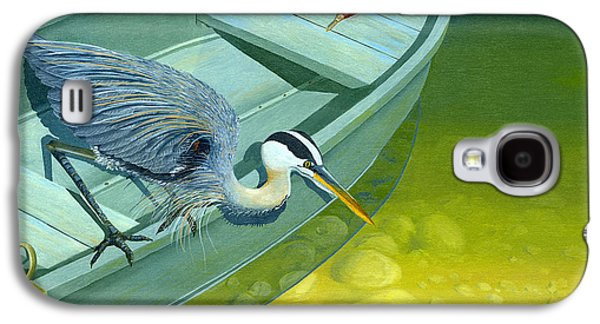 Opportunity-the Great Blue Heron Galaxy S4 Case by Gary Giacomelli
