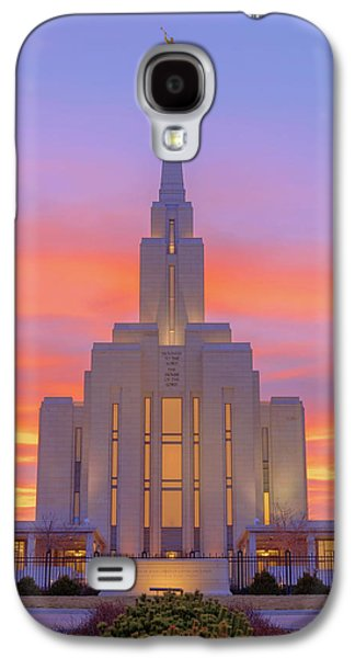 Oquirrh Mountain Temple IIi Galaxy S4 Case