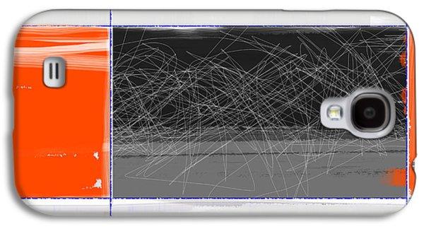 Orange And Black Galaxy S4 Case by Naxart Studio
