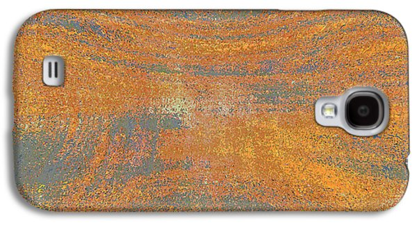 Abstract Digital Photographs Galaxy S4 Cases - Orange and Gray Abstract Galaxy S4 Case by Carol Groenen