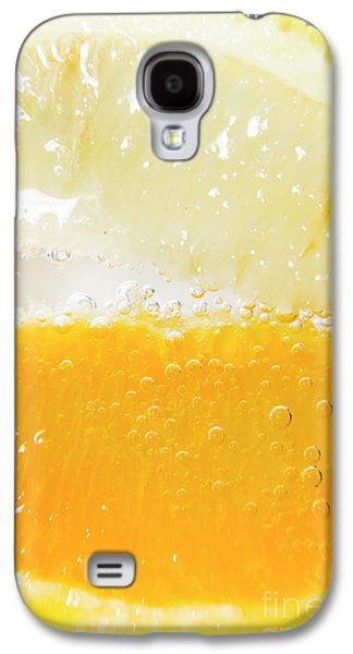 Orange And Lemon In Cocktail Glass Galaxy S4 Case