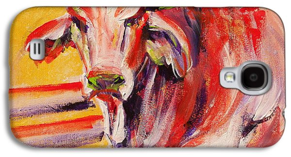 Orange Brahma Bull Galaxy S4 Case by Summer Celeste