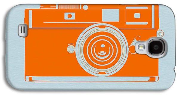 Camera Galaxy S4 Cases - Orange camera Galaxy S4 Case by Naxart Studio