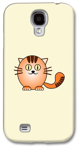 Orange Cat - Animals - Art For Kids Galaxy S4 Case by Anastasiya Malakhova