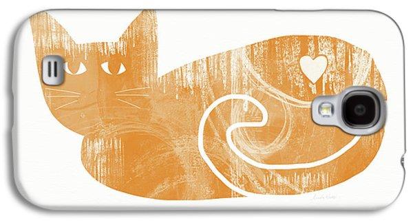 Orange Cat- Art By Linda Woods Galaxy S4 Case by Linda Woods