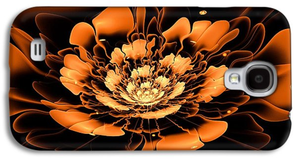 Orange Flower  Galaxy S4 Case