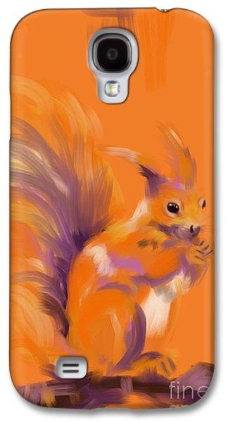 Orange Forest Squirrel Galaxy S4 Case by Go Van Kampen