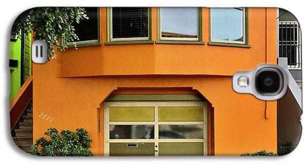 Galaxy S4 Case - Orange House by Julie Gebhardt