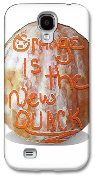 Orange Is The New Quack Galaxy S4 Case by Susan Maxwell Schmidt