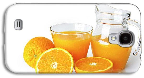 Orange Juice Galaxy S4 Case by Carlos Caetano
