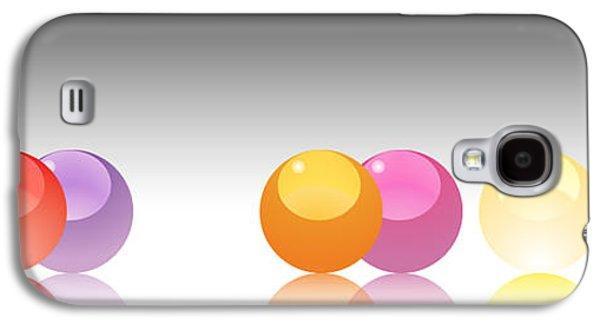 Orange Marbles Galaxy S4 Case by Nomi Elboim