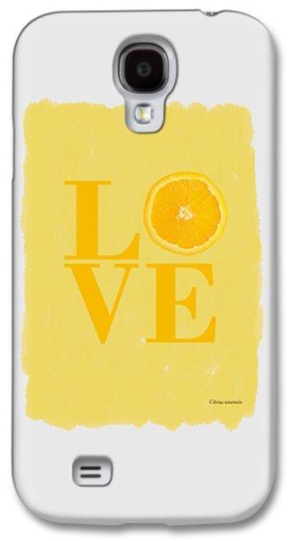 Orange Galaxy S4 Case by Mark Rogan