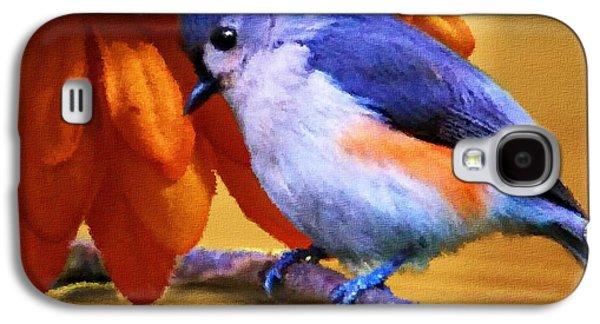 Titmouse Galaxy S4 Case - Orange Medley by Jai Johnson