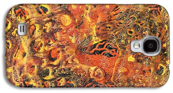 Orange Modern Art - Tiger Lily - Sharon Cummings Galaxy S4 Case