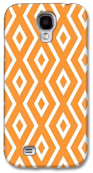 Orange Pattern Galaxy S4 Case