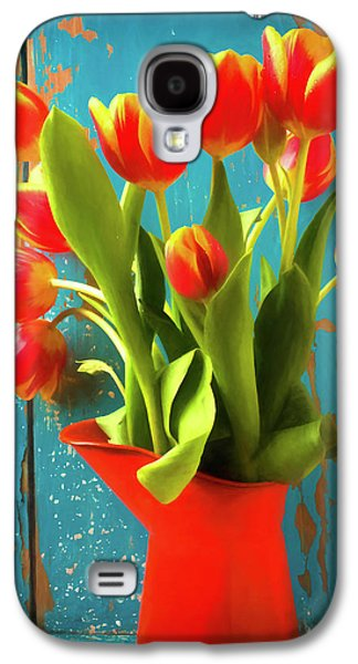 Orange Pitcher With Tulips Galaxy S4 Case