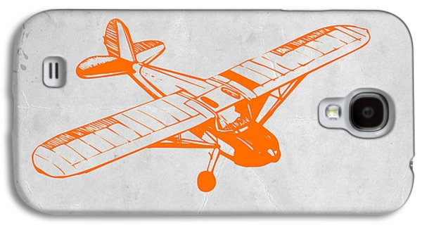 Orange Plane 2 Galaxy S4 Case by Naxart Studio