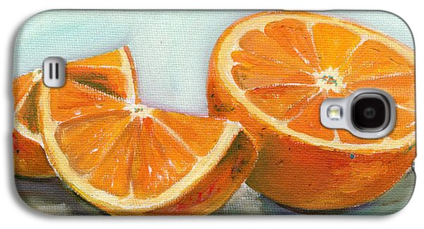 Orange Galaxy S4 Case by Sarah Lynch