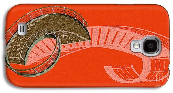 Orange Stair 47 And The Negative Red Shadow Galaxy S4 Case by Pablo Franchi