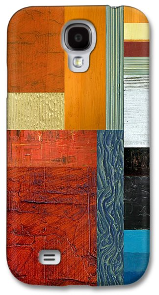 Galaxy S4 Case featuring the painting Orange Study With Compliments 1.0 by Michelle Calkins