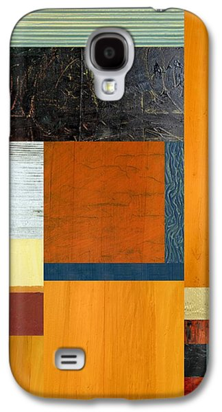 Galaxy S4 Case featuring the painting Orange Study With Compliments 2.0 by Michelle Calkins