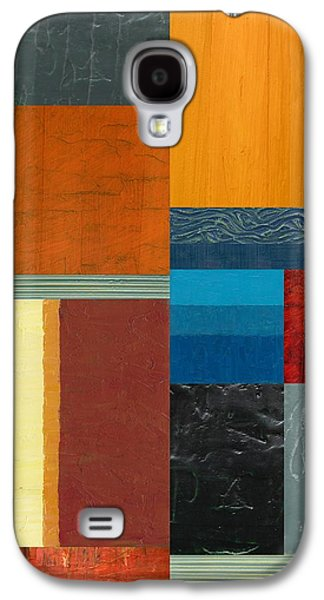 Galaxy S4 Case featuring the painting Orange Study With Compliments 3.0 by Michelle Calkins