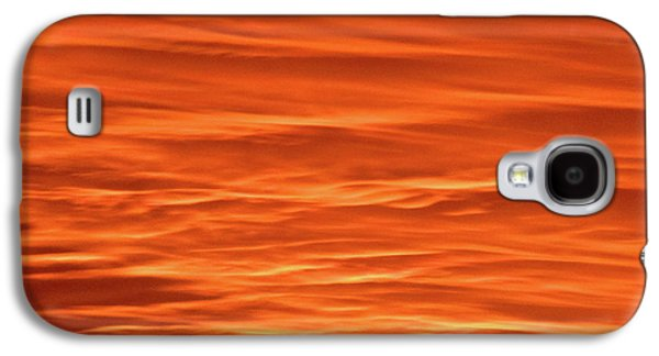 Orange Sunset Abstract Galaxy S4 Case