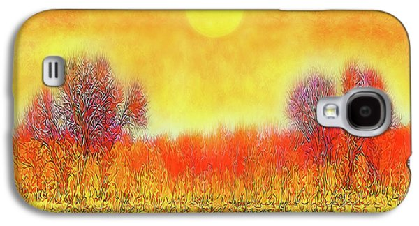 Orange Sunset Shimmer - Field In Boulder County Colorado Galaxy S4 Case
