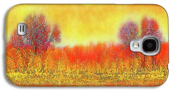 Orange Sunset Shimmer - Field In Boulder County Colorado Galaxy S4 Case by Joel Bruce Wallach