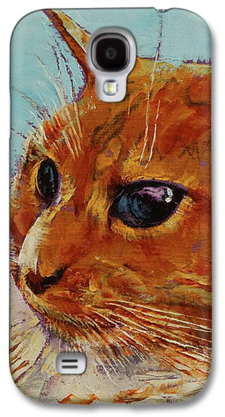 Orange Tabby Cat Galaxy S4 Case