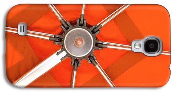 Orange Galaxy S4 Case - Orange Umbrella #photography by Juan Silva