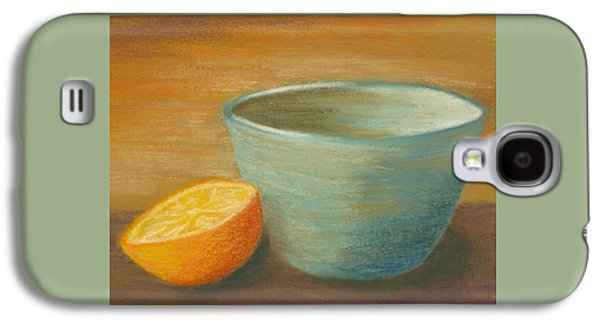 Orange With Blue Ramekin Galaxy S4 Case