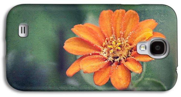 Orange Zinnia Galaxy S4 Case