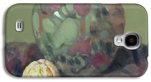 Oranges And Floral Porcelain Vase Galaxy S4 Case