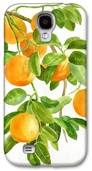 Oranges On A Branch Galaxy S4 Case by Sharon Freeman