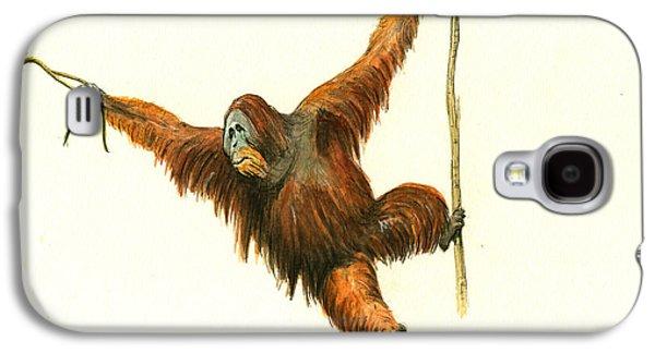Orangutan Galaxy S4 Case - Orangutan by Juan Bosco