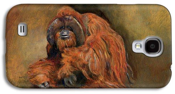 Orangutan Galaxy S4 Case - Orangutan Monkey by Juan Bosco