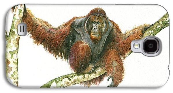 Orangutang Galaxy S4 Case by Juan Bosco