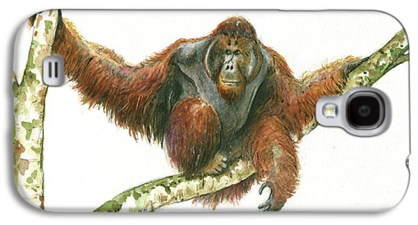 Orangutan Galaxy S4 Case - Orangutang by Juan Bosco