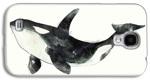 Orca From Arctic And Antarctic Chart Galaxy S4 Case by Amy Hamilton