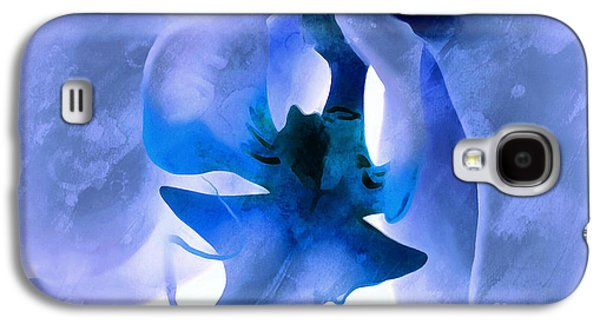 Orchid Of Blue Galaxy S4 Case by Krissy Katsimbras