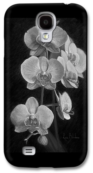 Orchid Galaxy S4 Case - Orchids - Black And White by Lucie Bilodeau