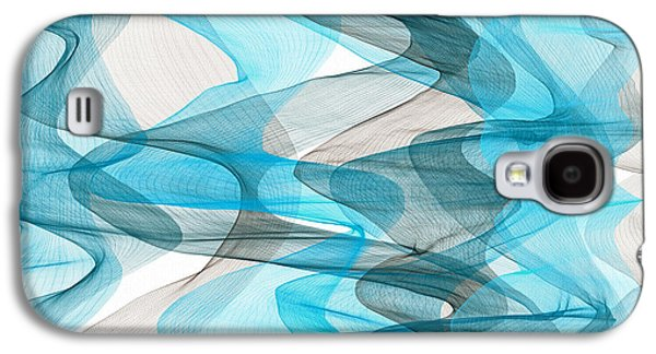 Orderly Blues And Grays Galaxy S4 Case