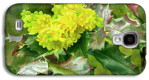 Oregon Grape Blossoms With Leaves Galaxy S4 Case by Sharon Freeman