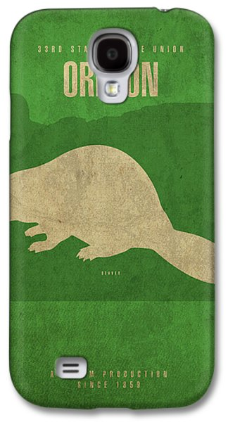 Oregon State Facts Minimalist Movie Poster Art Galaxy S4 Case by Design Turnpike