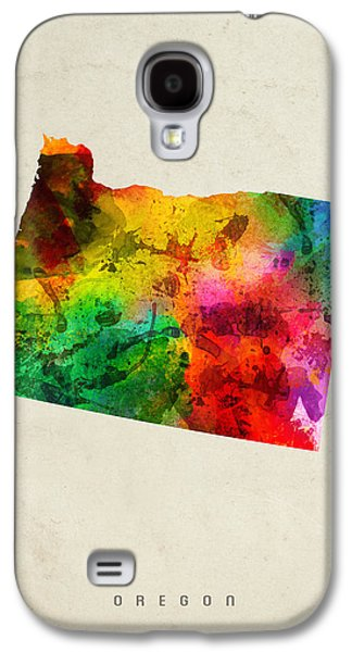 Oregon State Map 01 Galaxy S4 Case by Aged Pixel