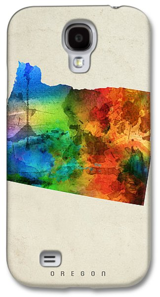 Oregon State Map 03 Galaxy S4 Case by Aged Pixel