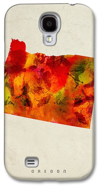 Oregon State Map 04 Galaxy S4 Case by Aged Pixel